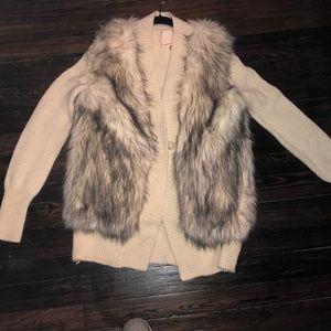 Fur Rebecca Taylor sweater